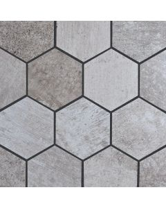 Cement Hex Porcelain Mosaic