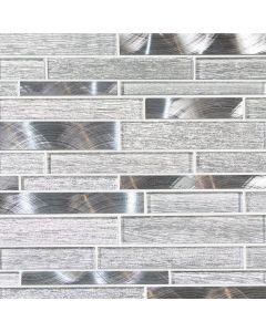 Alumina Glass Mosaic, Silver Blend