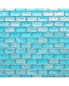 Iridescent Brick Glass Mosaic