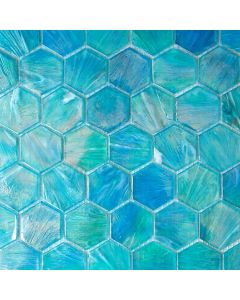 Glacier Hexagon Glass Mosaic
