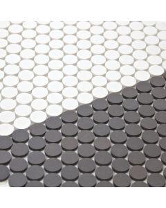 Matte Penny Round Porcelain Mosaic