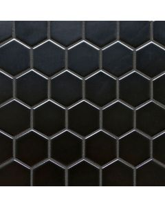 Hexagon Porcelain Mosaic, 2""
