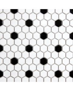 Black 'n White Hexagon Mosaic