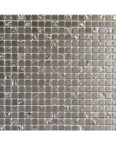 Silver Texture Glass Mosaic