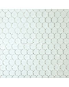 Frosted Glass Penny Round Mosaic