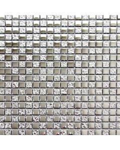 Silver Square Glass Mosaic