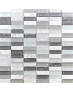 Craquele Glass and Stone Mosaic