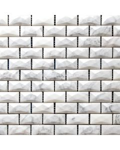 Multi Facet Carrara Brick Mosaic