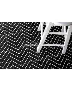 Flex Art Tile Collection TileDaily Chevron, Black, P0120-1BK