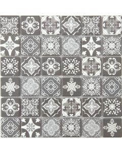 Maya Encaustic Ceramic Mosaic