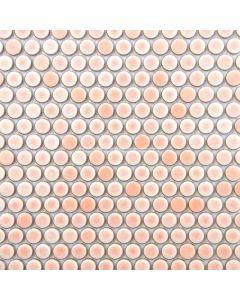 Penny Round Mosaic, Rose Pink