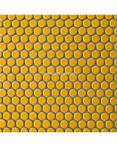La Rond Penny Round Mosaic, Yellow