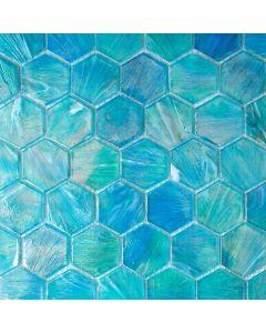 Glacier Hexagon Glass Mosaic