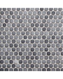 PM0089GY Gradient Mix Grey Penny Round Mosaic Tile