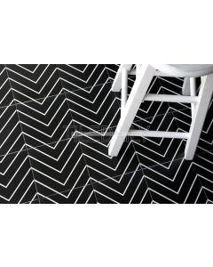 Flex Art Tile Collection TileDaily Chevron, Black, P0120-1BK