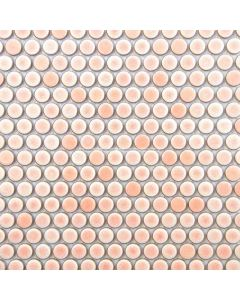 Penny Round Mosaic, Rose Pink