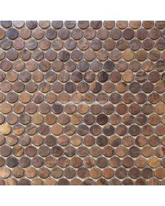 Copper Penny Round Mosaic